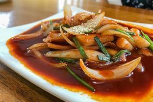 close-up de um prato picante foto