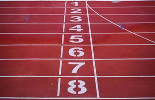 pista de corrida vermelha