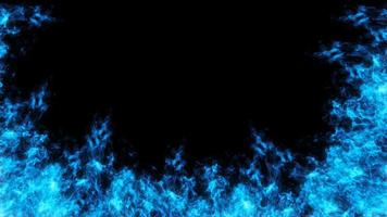 design de fogo azul
