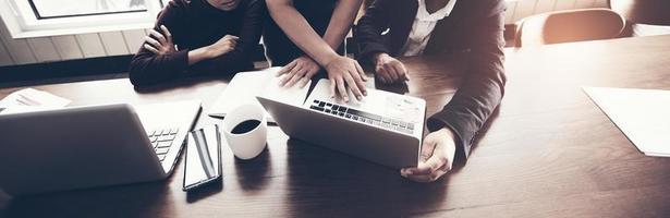 conceito de reunião de negócios