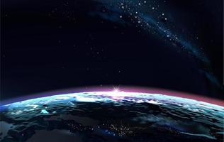 Ilustração 3D do planeta Terra foto