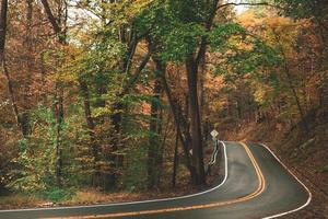 estrada através de um campo foto
