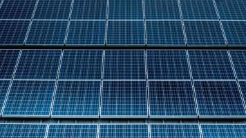 painéis solares azuis