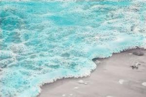 close-up de bolhas do mar