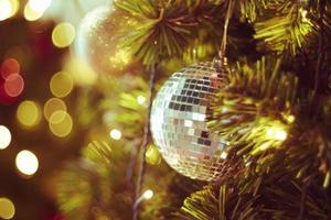 decoração de bola de discoteca foto