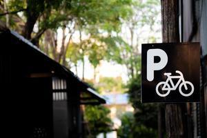 sinal de estacionamento de bicicletas