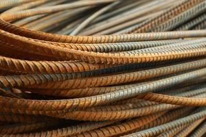 monte de barras de aço