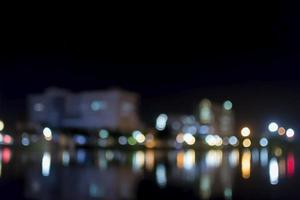 luzes bokeh à noite foto