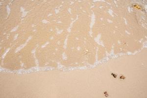 areia na praia foto