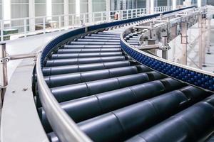 cruzamento do transportador de rolos, objetos de transporte de rolos de esteira de linha de produção.