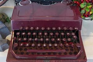 velha máquina de escrever retro foto