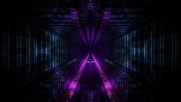 visão do sonho do túnel escuro iluminação 3D fundo visual papel de parede arte design foto
