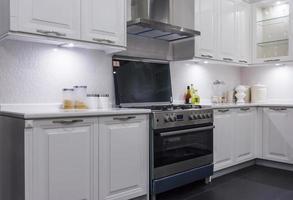 cozinha limpa branca