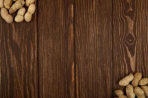 vista superior de amendoim com casca foto