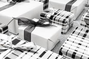 fundo de caixas de presente de natal