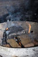chamas e fumaça