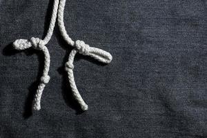fundo escuro de algodão denim