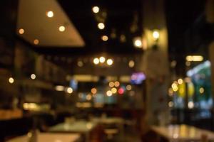 cena borrada de restaurante foto