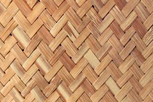 textura e fundo de trama de bambu artesanal foto