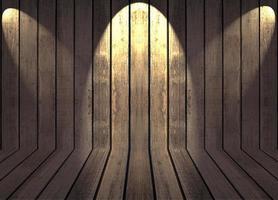luzes em um fundo de madeira