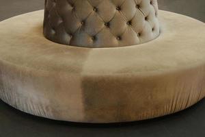estilo luxuoso do sofá de couro