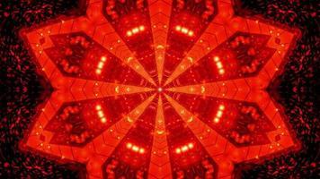 abstrato vermelho estrela túnel ilustração 3d fundo papel de parede design arte
