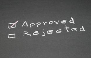 desenho do quadro-negro - rejeitado ou aprovado