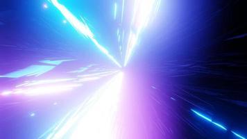 Luzes de néon brilhantes túnel espacial ilustração 3d fundo papel de parede design arte