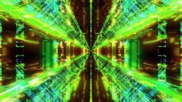 verde brilhante ficção científica fantasia túnel ilustração 3d fundo papel de parede design arte