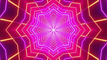 Estrela de néon abstrata brilhando ilustração 3d fundo papel de parede design arte