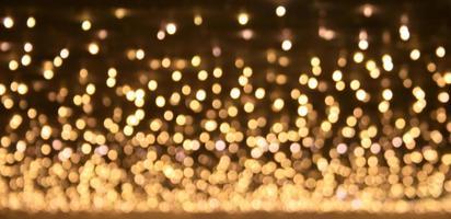 luzes de ouro bokeh