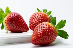 morangos, fragaria, fruta, comida, saudável