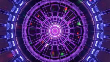 túnel espacial redondo legal com partículas brilhantes ilustração 3d fundo papel de parede design arte