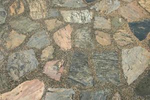 piso de pedra rústica foto