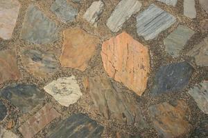 chão de pedra rústica foto