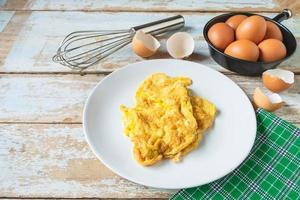omelete no prato foto