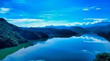 vista aérea do reservatório shimen foto