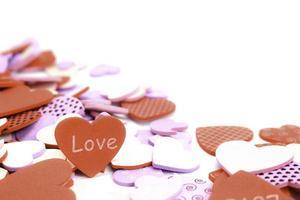 corações de amor roxos e marrons foto