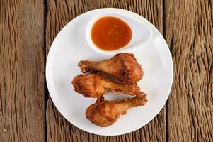 pernas de frango frito com molho
