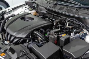 detalhe do motor do carro