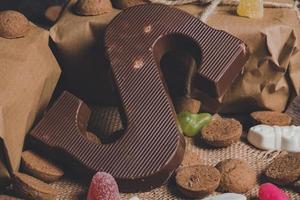 carta de chocolate e presentes
