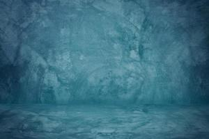 estúdio de parede de cimento azul