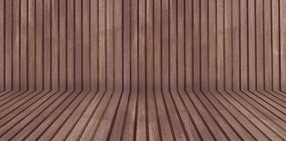 Ilustração 3D da sala de madeira
