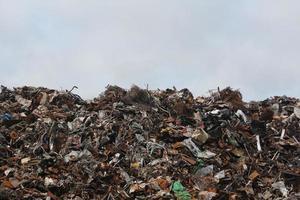 grande pilha de lixo