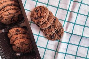 biscoitos no pano foto