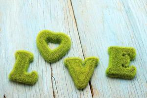 sinal de amor verde foto