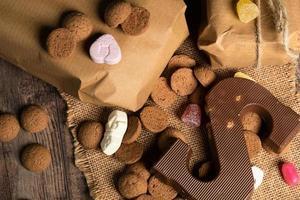 carta de chocolate e doce