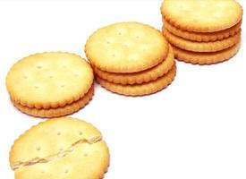 pilha de biscoitos foto