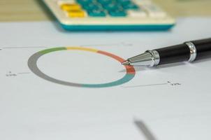 close up de uma caneta