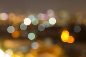 bokeh de luzes na cidade foto